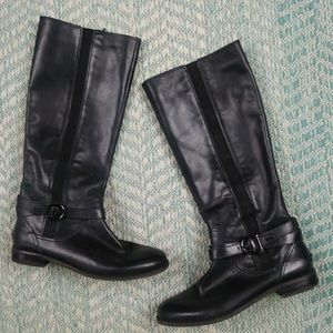 Sperry Top-Sider Black Zip Boots. Size 9